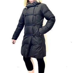 Steve by Searle black mid length puffer coat XS